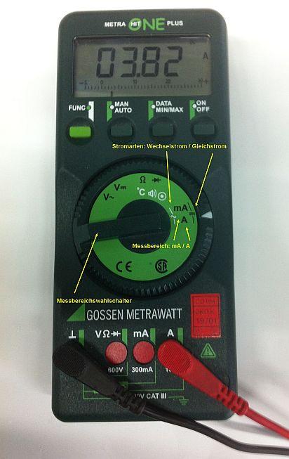 Elektrotechnische Grundlagen im Auto - Messen des elektrischen Stroms